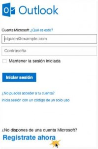 Como registrarme en Outlook.com 1